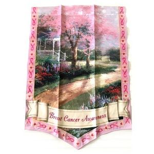 Thomas Kinkade Breast Cancer Awareness Garden Flag